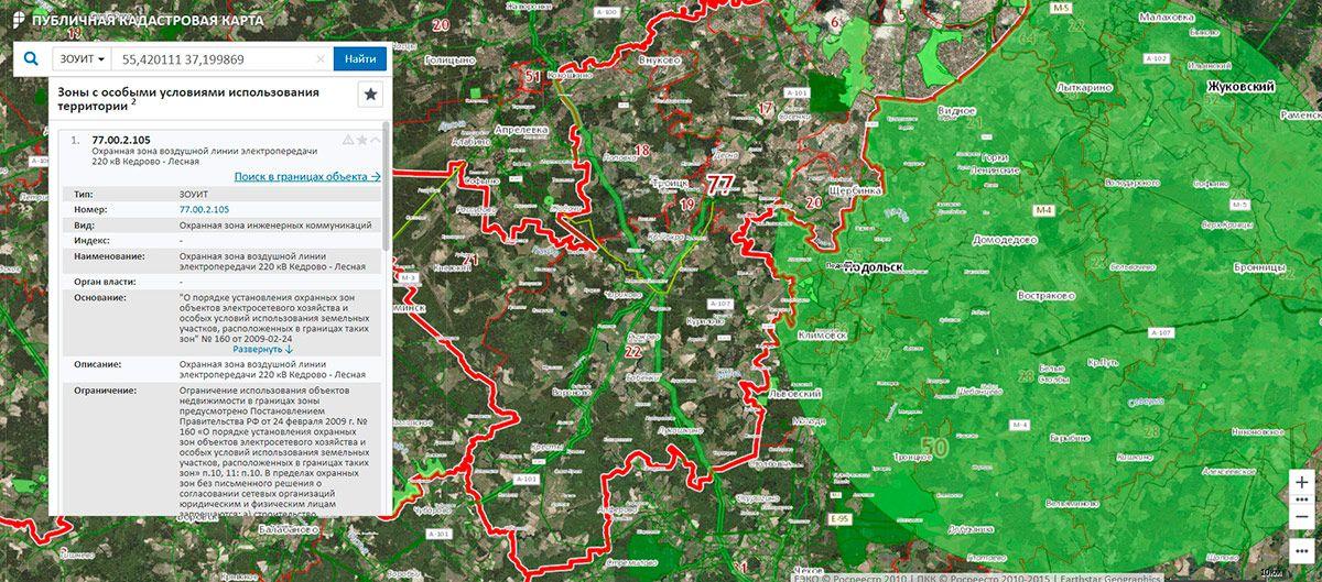 Как на карте выделить участок на карте